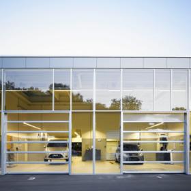 glas Industriporte fra NASSAU model panorama ledhejseport